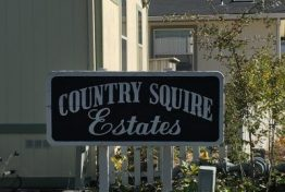 Country Squire Estates Road Sign