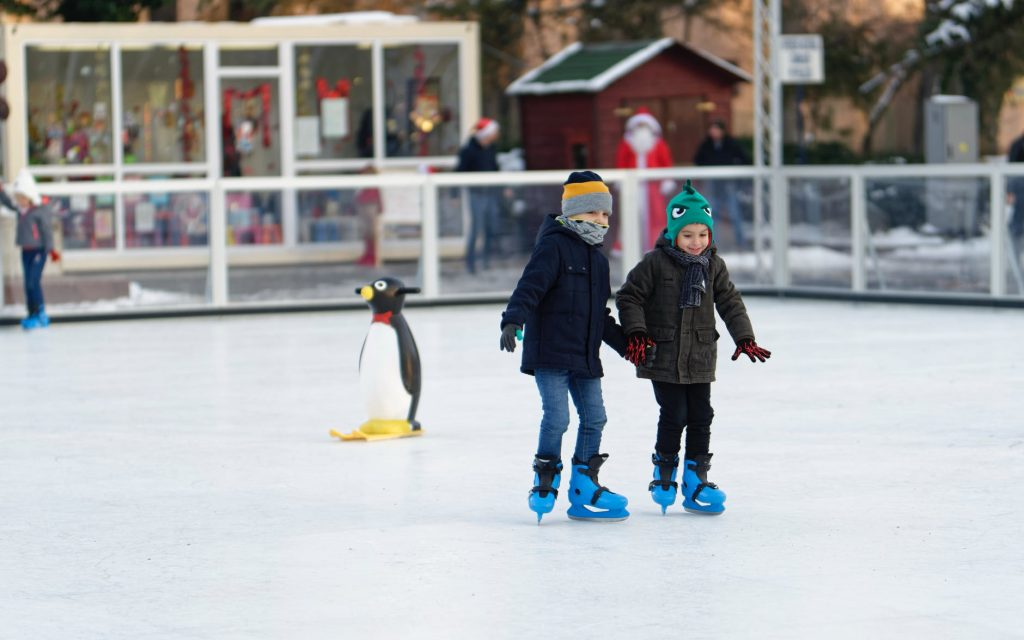 winter activities in country squire estates, skating